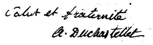 Du Chastellet signature