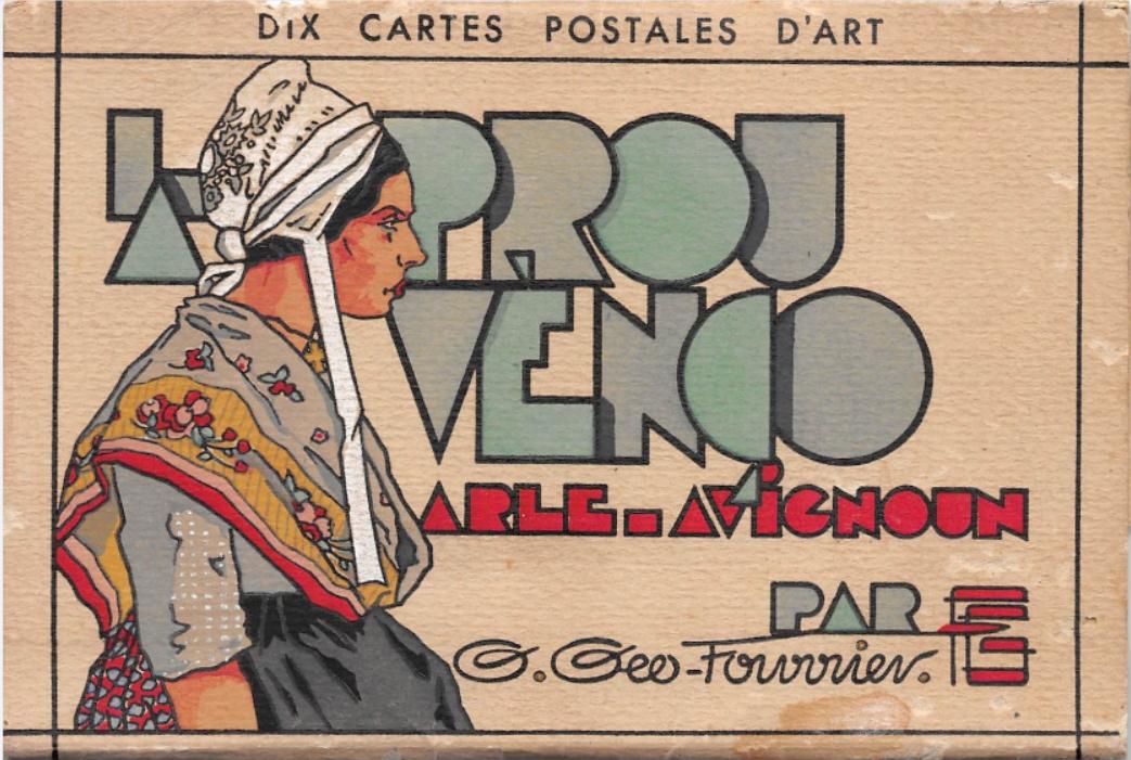Géo Fourrier-Couverture pour dix cartes postales d'art