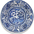 A large blue and white 'kraak' dish, ming dynasty, wanli period (1573-1619)