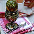 Oeufs de fabergé - aspics de pâques aux légumes