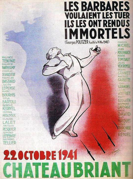 affiche mémoire communiste - martyrs de Chateaubriant