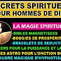magie pour les hommes de dieu