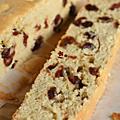 Cake aux raisins, canneberges & vinaigre pour le moelleux !