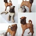 figurine_papier_creation_sur_mesure_chiens_sharpei_dame_la_lune_