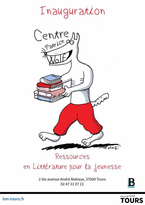 Legs de 18.000 albums jeunesse à la bibliothèque de Tours par Patrice Wolf