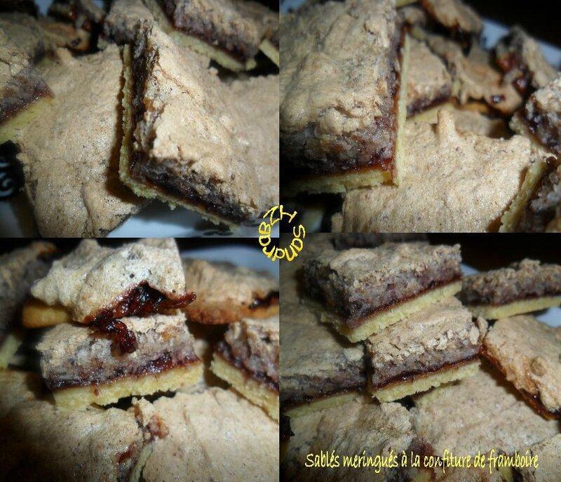 1213 Sablés à la confiture de framboise et meringue noisette 5
