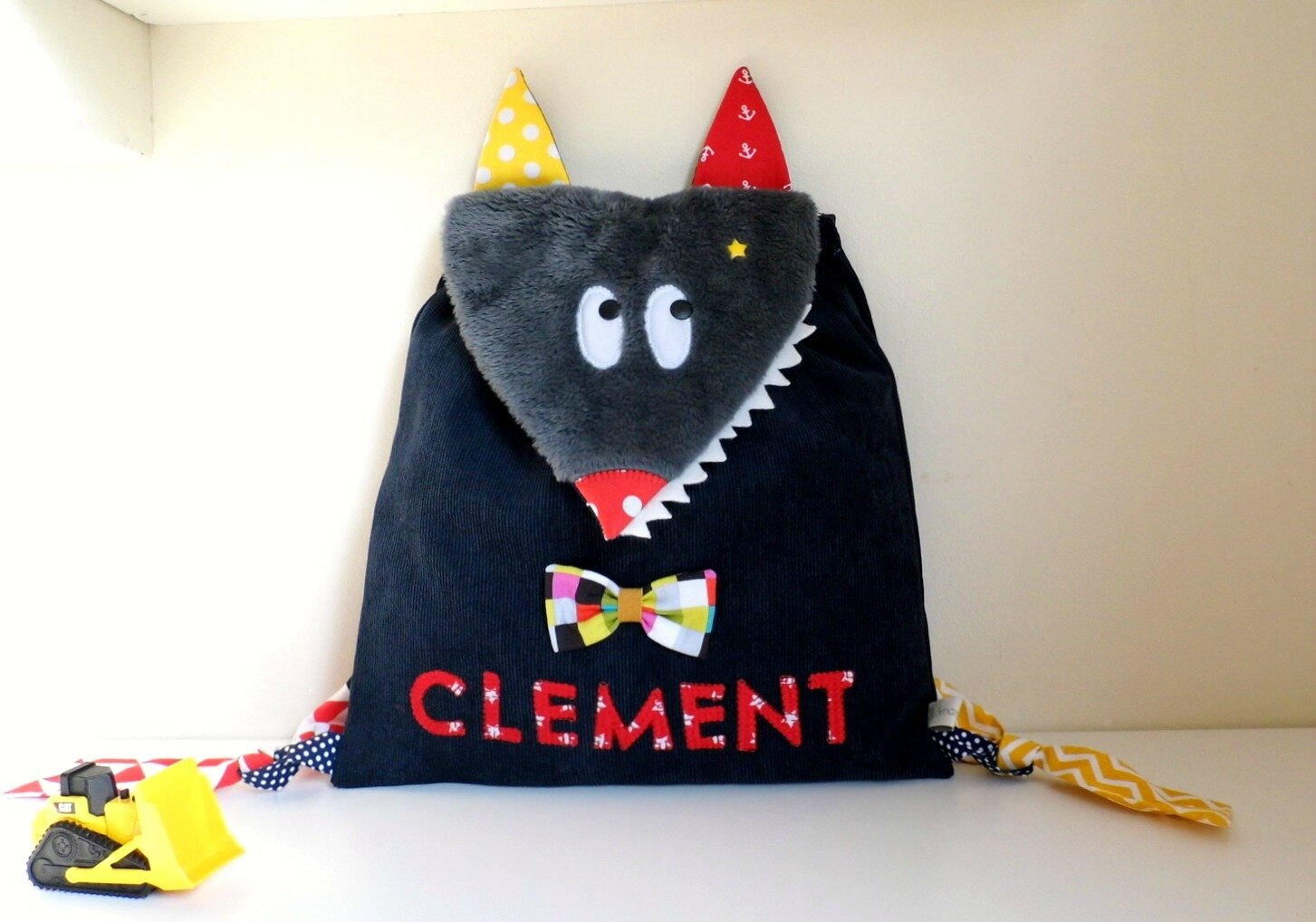 Sac maternelle loup Clement