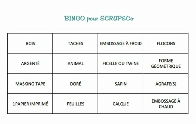 bingo scrap & co 10 dévrier