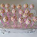Cake pops petit beurre et pépites de chocolat