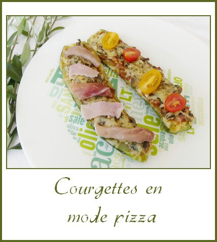 Courgettes en mode pizza