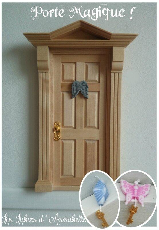 Porte magique miniature de fée bois