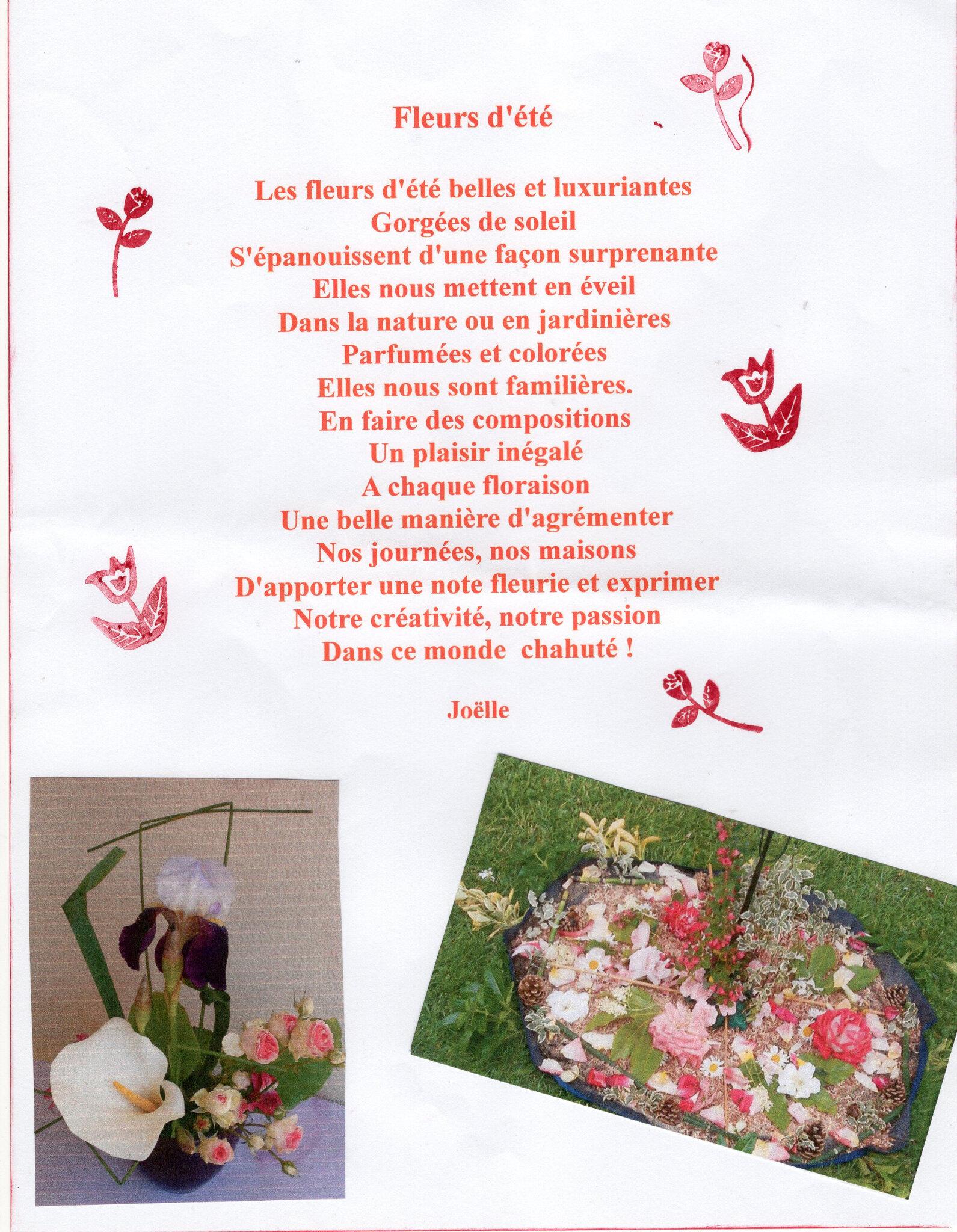 Petit Poème Aux Fleurs Dété Le Café Fleurs De Joëlle