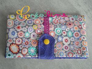 Porte chéquier multicolores 1