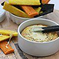 Camembert rôti au four et ses mouillettes colorées