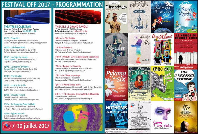 Cabestan & Grand Pavois - Programmation OFF 2017 (vue générale) R