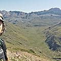 Jénorme est au sommet du pic d'Aillary face à Aguas Tuertas (Espagne)