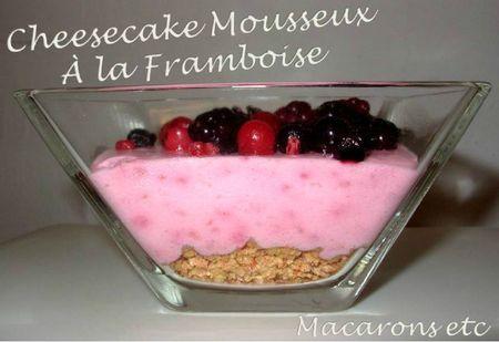 Cheesecake Mousseux à la Framboise