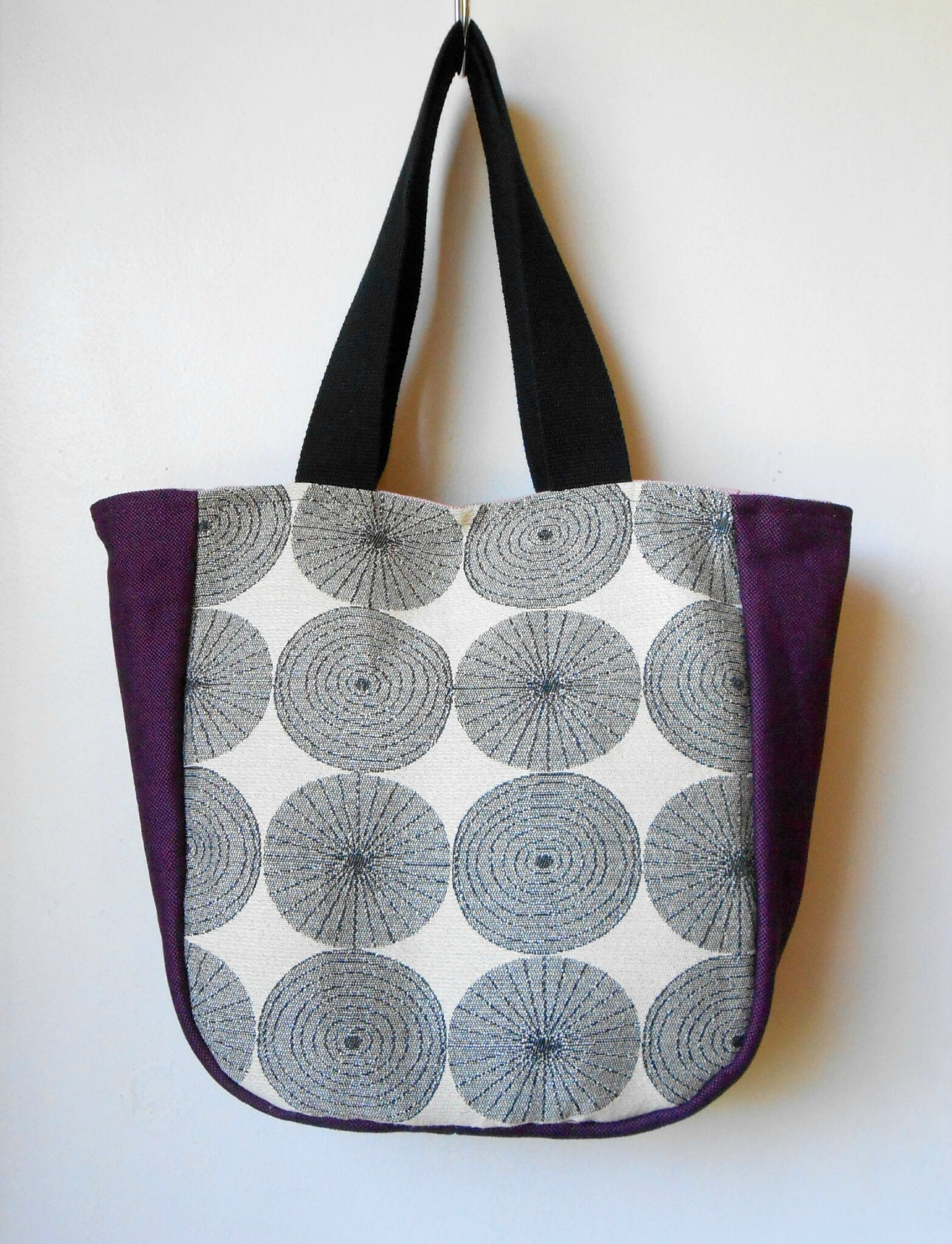Sac cabas crop circle violet