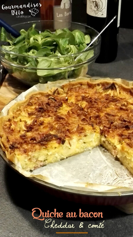 Quiche bacon cheddar comte (10)