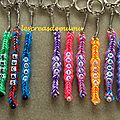 Porte-clés prénoms en rainbow loom