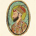 Portrait de shah jahan dans sa vieillesse, inde, empire moghol (1526-1857)
