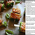 Brochettes de tofu en marinade