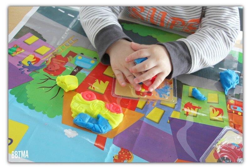 giotto pate à modeler activité kids enfant bebe be-be bbtma blog maman parents pompier seau modelage 6