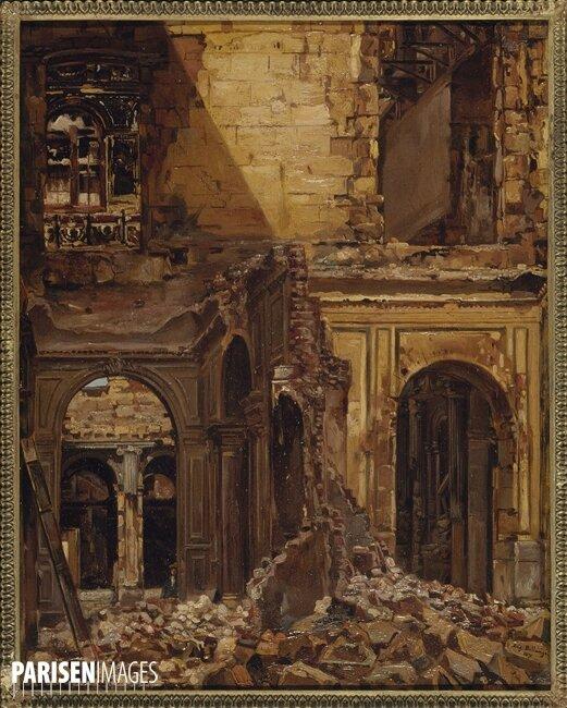 Bellangé, Ruines des Tuileries 1871