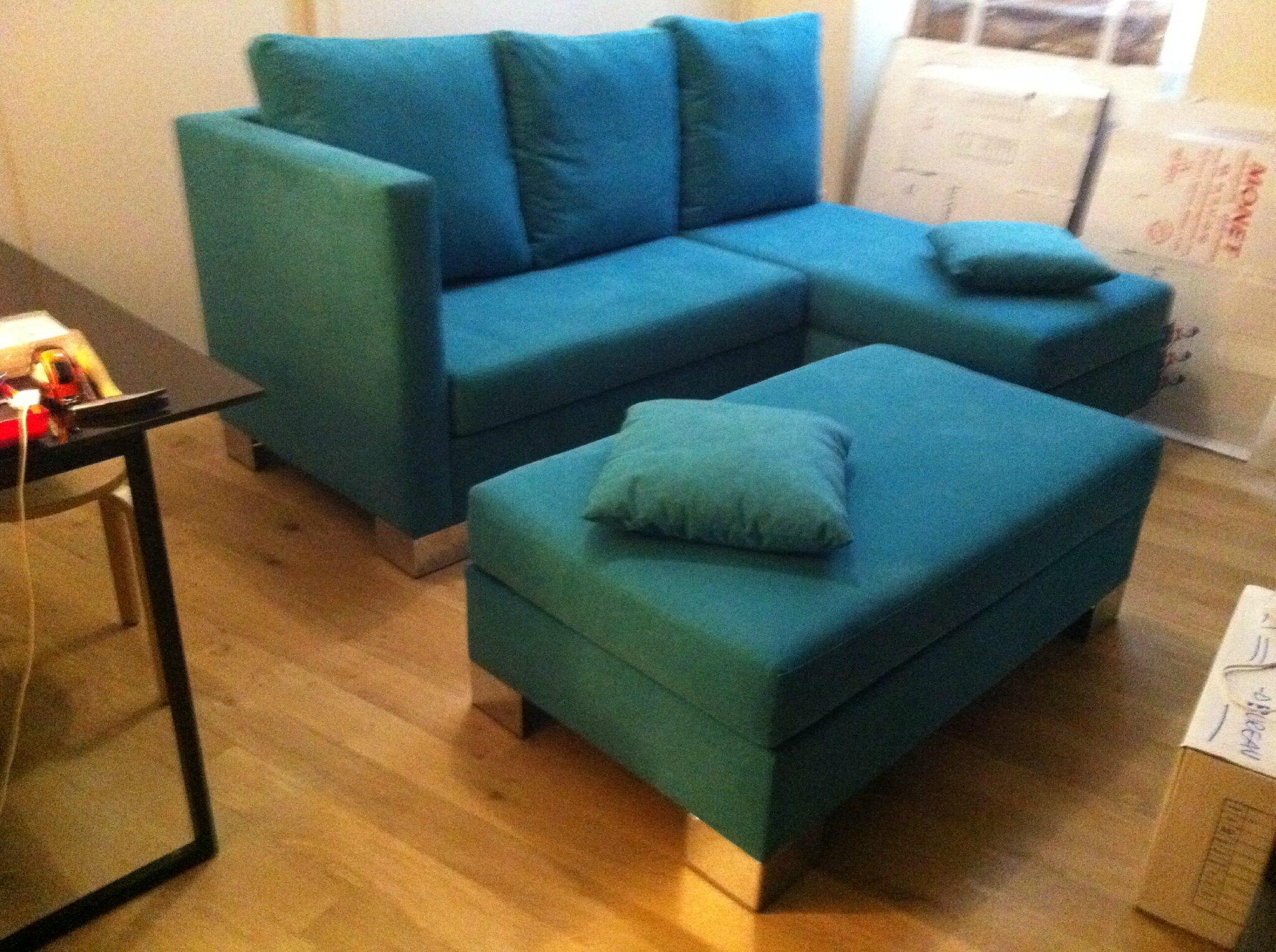 Canapé d'angle Bleu