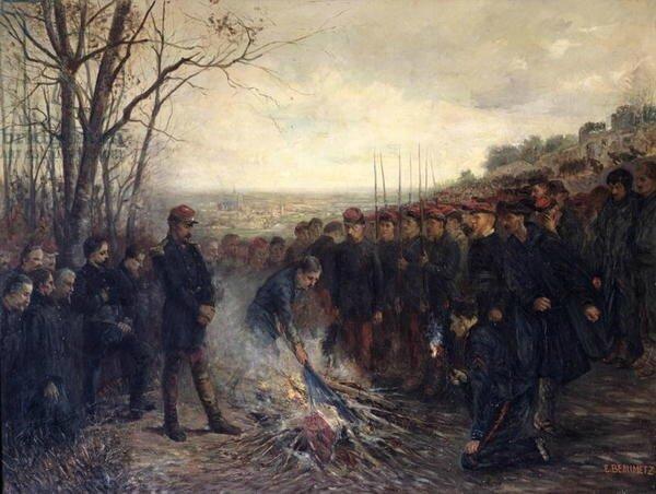 Dujartdin-Beaumetz, Le général Lapasset brûlant ses drapeaux, 26 octobre 1870
