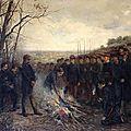 Dujartdin-Beaumetz, Le général Lapasset brûlant ses drapeaux, 26 octobre 1870 (1882)
