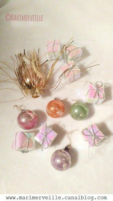 Décorations de Noël irisées vintage - Marimerveille