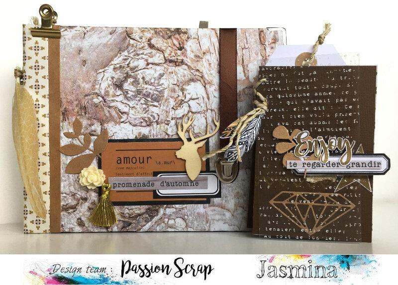 Kit Dans les bois - Passion Scrap - Jasmina 2 albums