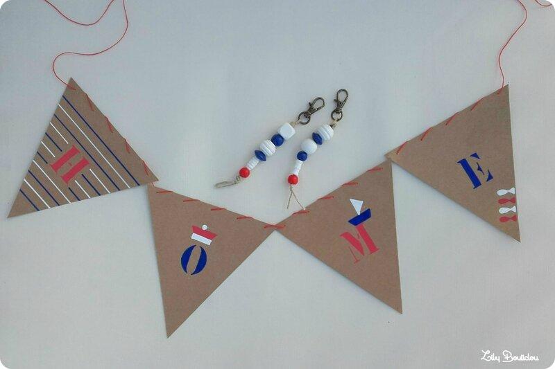 DIY guirlande fanions mer lilybouticlou