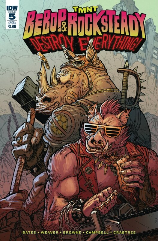 IDW TMNT bebop & rocksteady destroy everything 05 sub