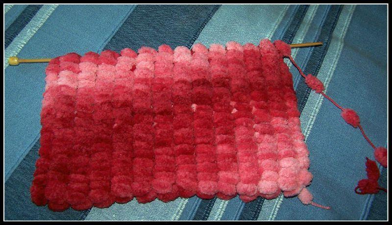 Tuto echarpe laine pompon   Aqualogia 4a176b8fa7d