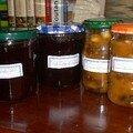 Confiture de canneberges, pommes et sirop d'érable ET chutney de mangue