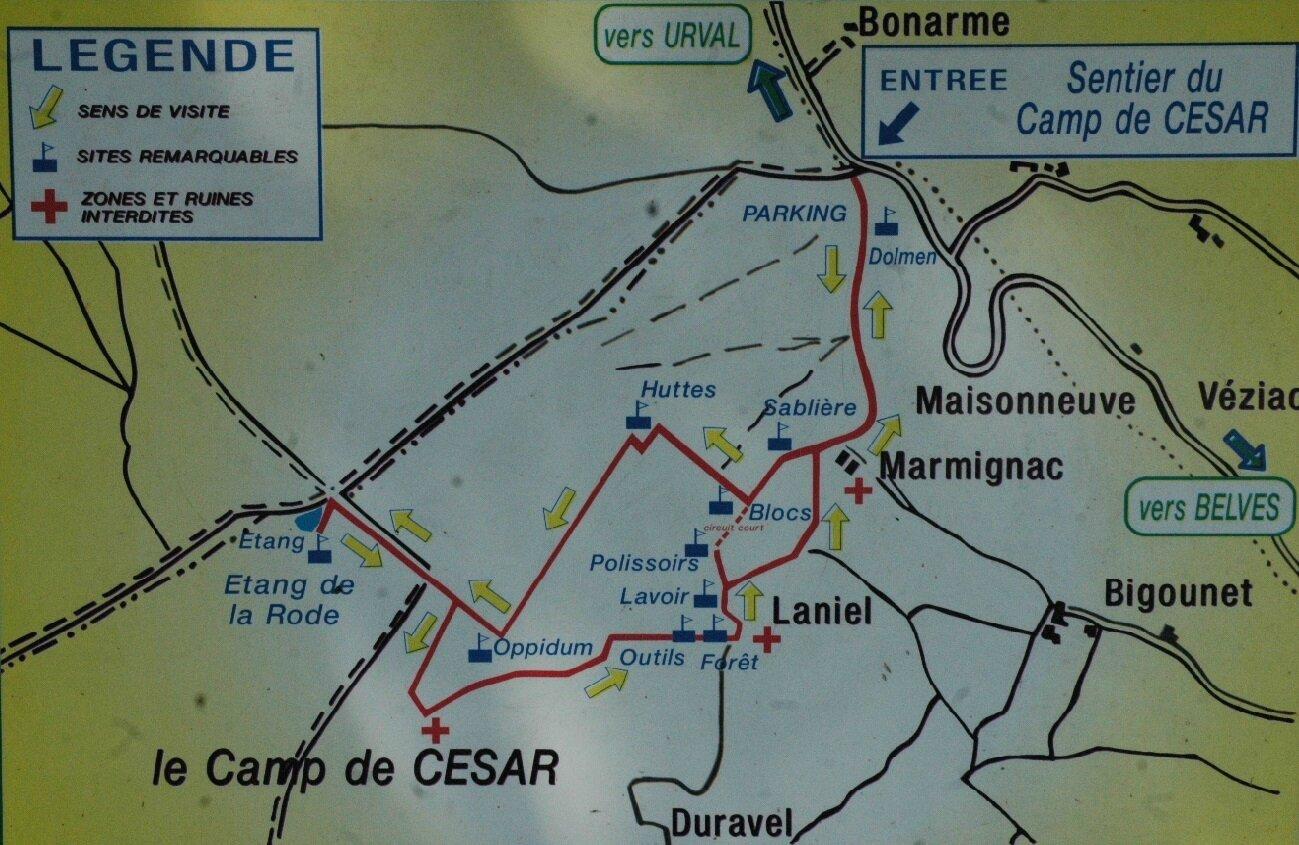 Plan du Sentier du Camp de César