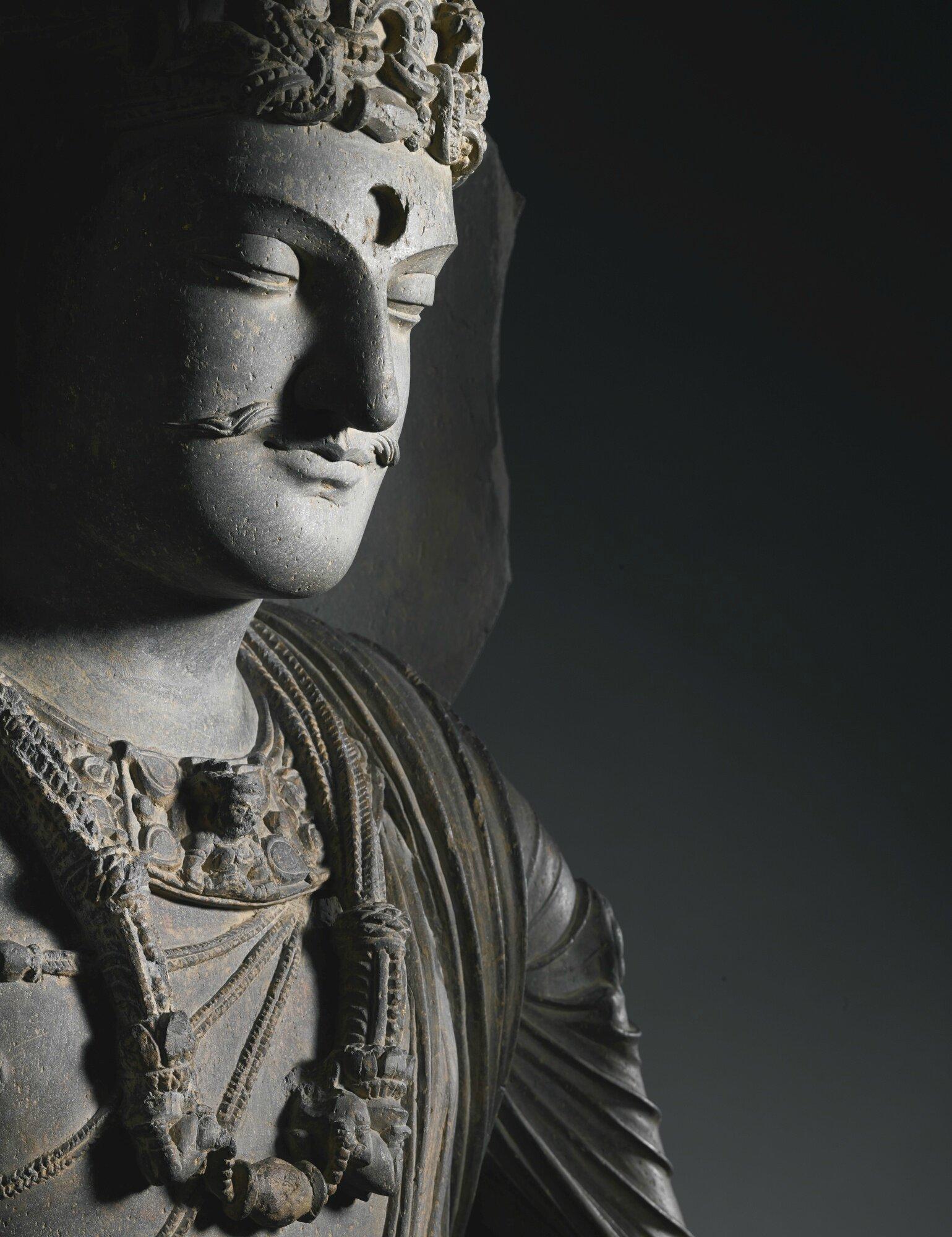 A Grey Schist Standing Bodhisattva Ancient Region Of Gandhara Kushan Period 3rd 4th Century Alain R Truong