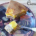 Gâteau pêches et sarrasin