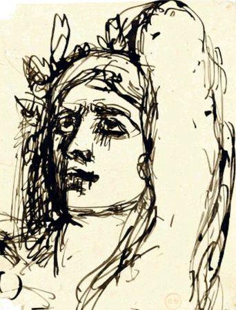 Portrait de femmme Gustave Moreau