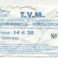 Ticket bateau pour Porquerolles