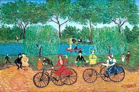 GRAND MERE PARIS Tricycles, promenade au bois 24 x 35