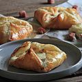 Paniers feuilletes fromage et des de jambon