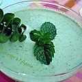 Velouté glacé au concombre*