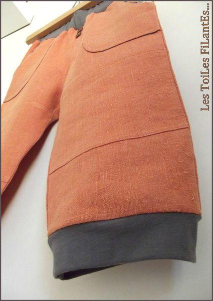 Pantacourt brique et tee-shirt plomb4