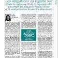Les allégations au régime sec (lamy droit des affaires, juin 2007)