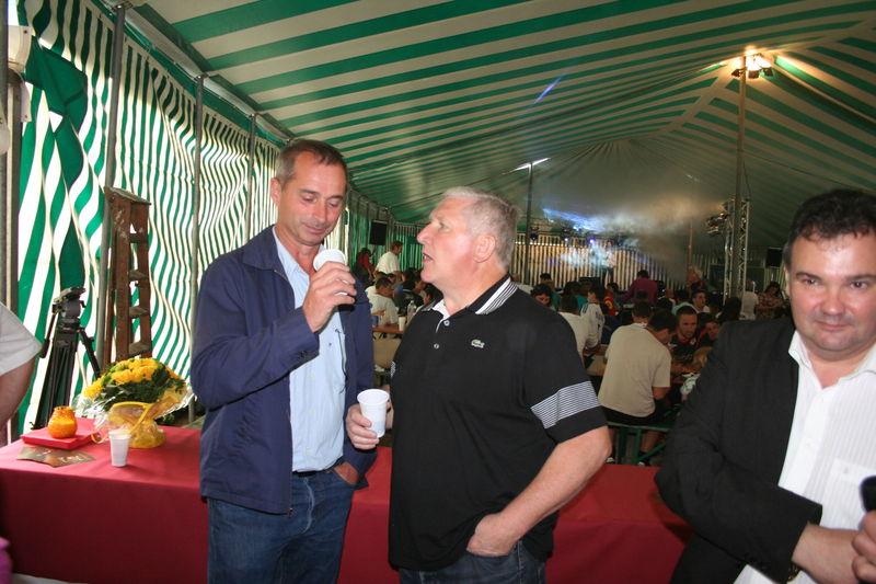 Hervé Carreau, VicePrésident du FCBS et Guy Rasper en pleine conversation