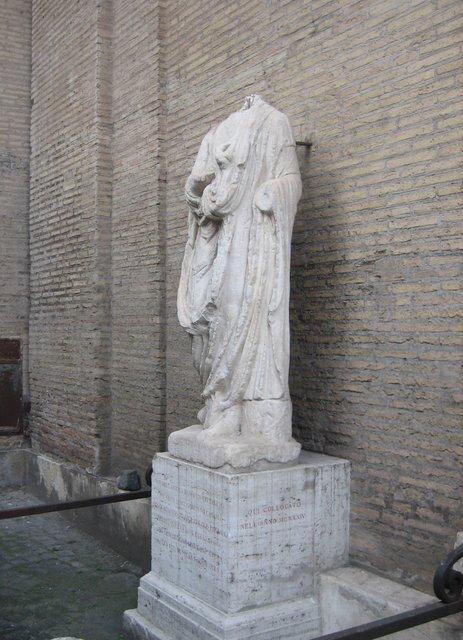 Statues parlantes Sant Eustachio l'abbé Luigi