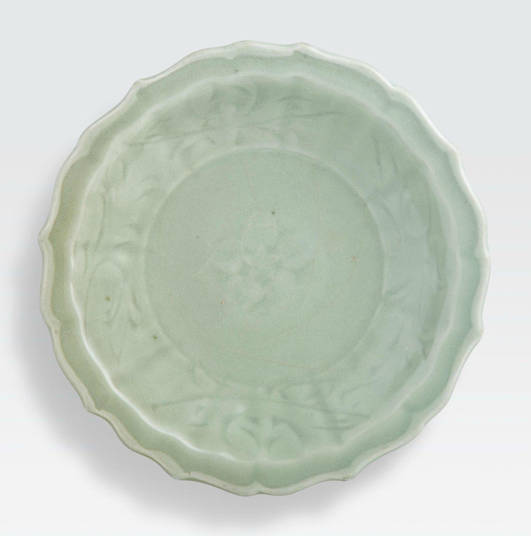 A Longquan celadon dish, Ming dynasty
